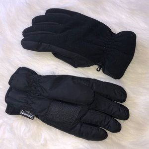 Thinsulate Insulation Men's Black Winter Gloves